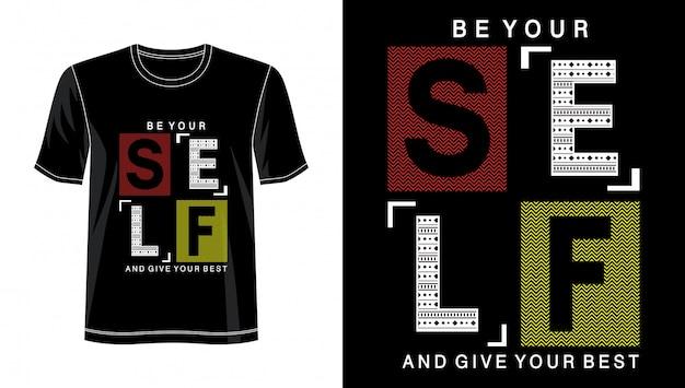 Soyez vous-même la typographie