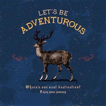 Soyons aventureux logo design vectoriel