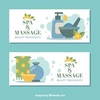 Spa et bannières de massage