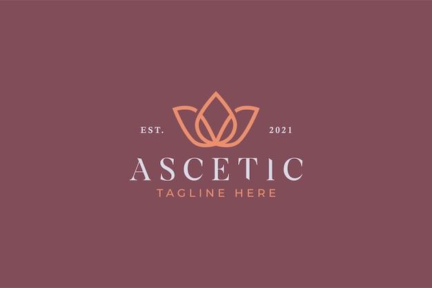 Spa de beauté et logo de yoga