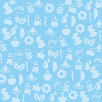 Spa icosn sur illustration vectorielle fond bleu