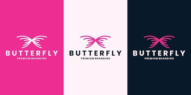 Spa de mode de conception de logo de marque de papillon