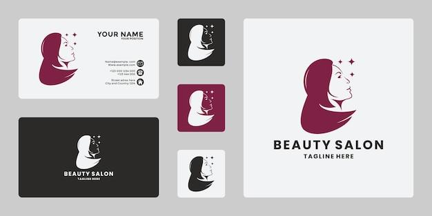 Spa de salon de rêve de femmes de beauté de luxe, modèle de conception de logo de beauté pure