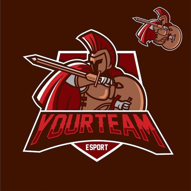 Spartan esport gaming mascotte logo modèle