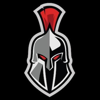 Spartan warrior sports fitness logo