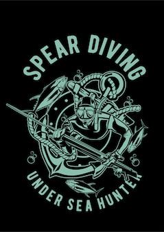 Spear diving