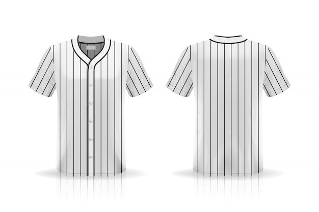 Spécification baseball t shirt mockup isolé sur fond blanc, espace vide sur la chemise pour le et en plaçant des éléments ou du texte sur la chemise, vierge pour l'impression, illustration