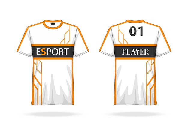 Spécification football sport, esport gaming t-shirt col rond