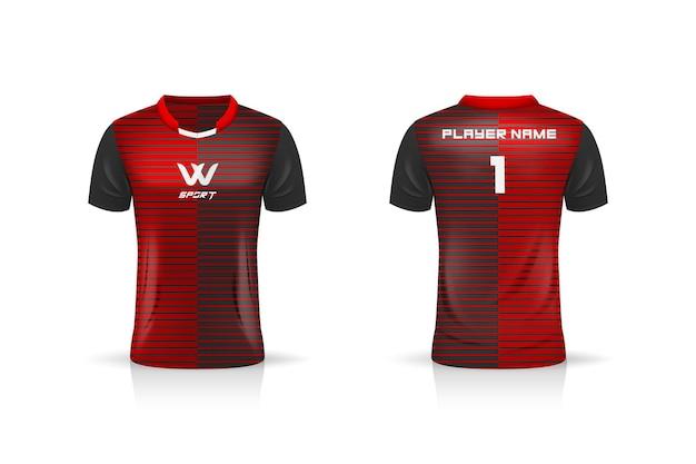 Spécification soccer sport, modèle de maillot esport gaming t shirt.