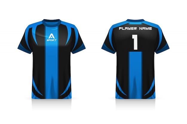 Spécification soccer sport, modèle de maillot de t-shirt esports gaming.