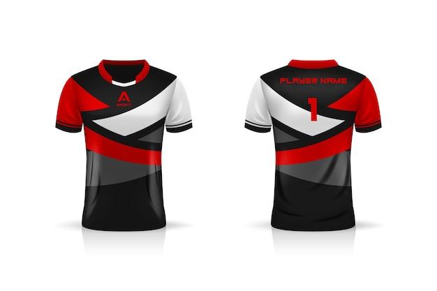 Spécification soccer sport t shirt jersey modèle illustration conception