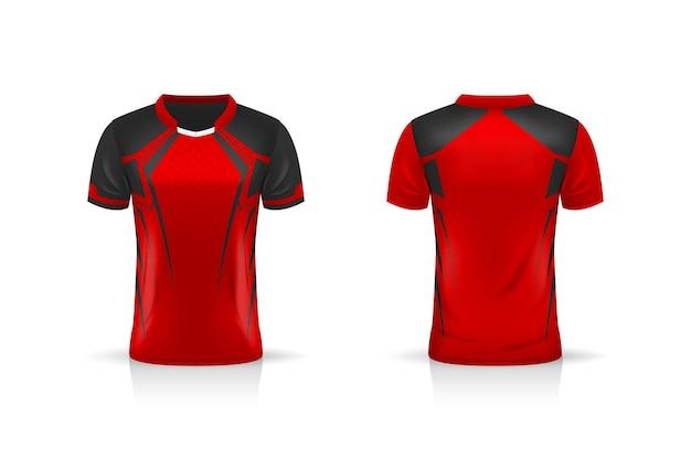 Spécifications maquette de sport de football, modèle de maillot de t-shirt esports gaming. maquette d'uniforme. conception d'illustration vectorielle