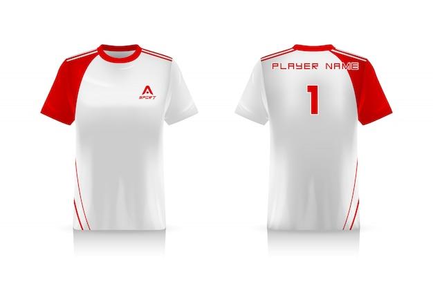 Spécifications soccer sport, esports gaming t shirt jersey template. uniforme.