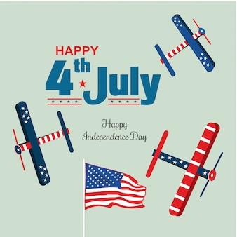 Spectacle aérien du 4 juillet, jour de l'indépendance des états-unis