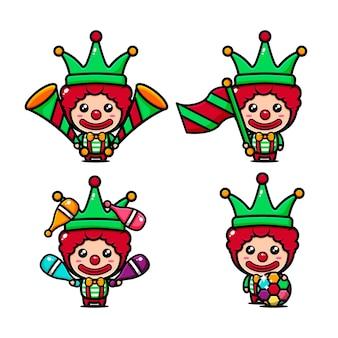 Spectacle de cirque sur le thème du clown de cirque mignon