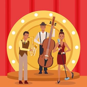 Spectacle de groupe de musique jazz