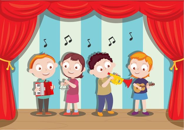 Spectacle musical réalisé par de jeunes étudiants