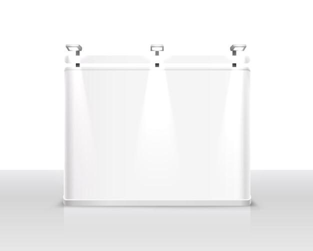 Spectacle de scène podium pour les présentations sur fond blanc. illustration vectorielle