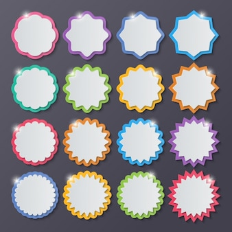 Speech bubbles avec de nombreuses formes et couleurs