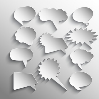 Speech bubbles sticker collection