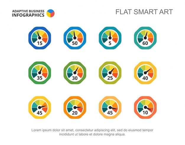 Speedometers set slide template