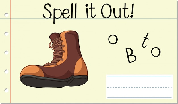 Spell it out boot