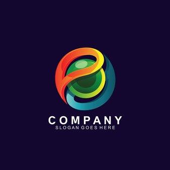 Sphère 3d colorée pour la création de logo de technologie