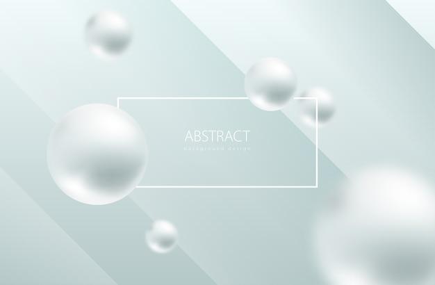 Sphère abstraite blanche