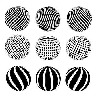 Sphère abstraite en pointillé