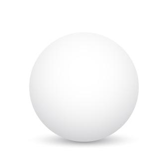 Sphère blanche. balle. illustration.