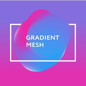Sphère dégradé abstraite de violet, rose, bleu