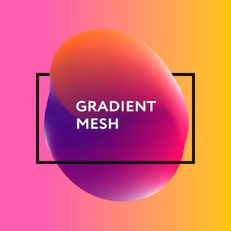Sphère dégradé abstraite de violet, rose, bleu.