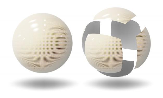 Sphère de haute technologie, balle. bulle industrielle.