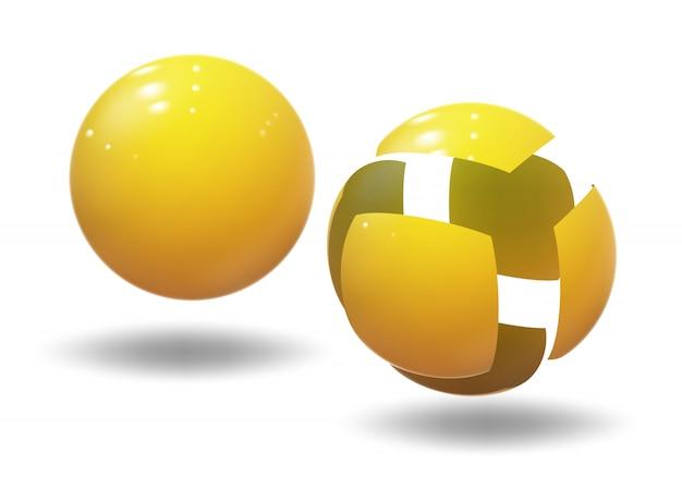 Sphère de haute technologie, boule. bulle industrielle.