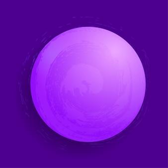 Sphère magique rougeoyante abstraite de vecteur. concept de planète 3d