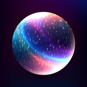 Sphère magique rougeoyante abstraite