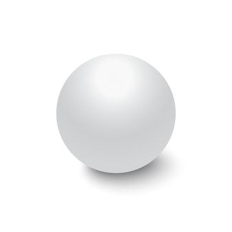 Sphère métallique rouge isolée sur fond transparent, illustration vectorielle réaliste