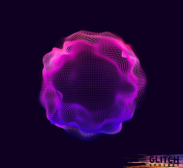 Sphère point violet corrompue