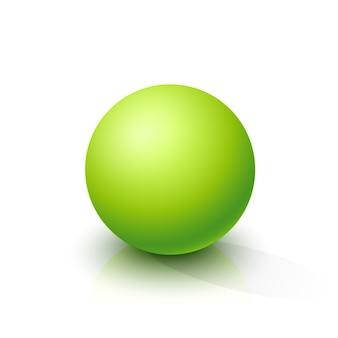 Sphère verte acide