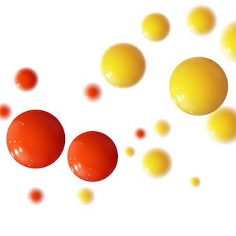 Sphères colorées réalistes. bulles en plastique.