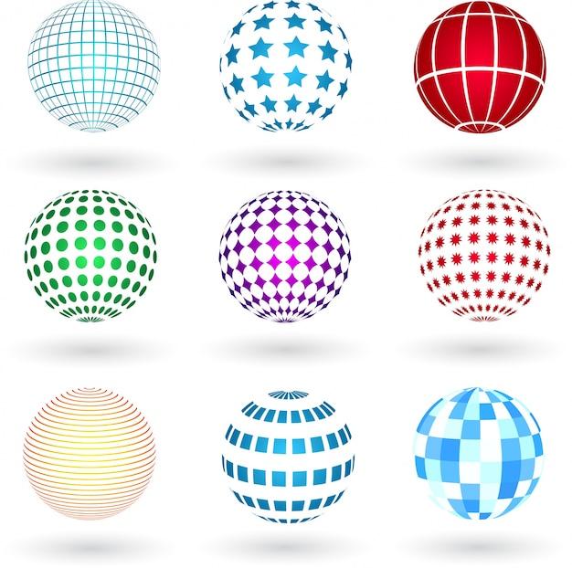 Sphères avec des designs variés