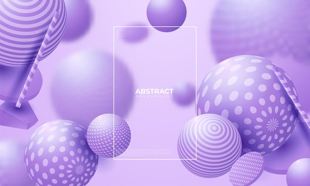 Sphères fluides 3d. illustration abstraite de vecteur de cluster de bulles ou de boules multicolores. concept tendance moderne. élément de décoration dynamique. conception d'affiche ou de couverture futuriste