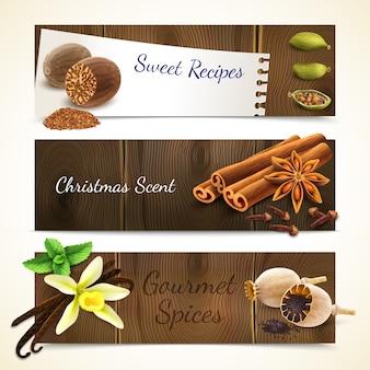 Spices bannières horizontales