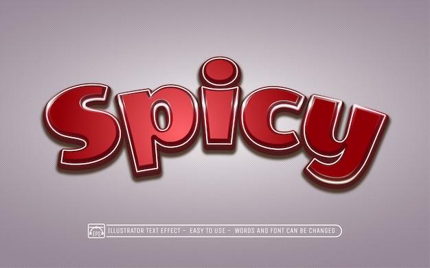 Spicy - style d'effet de texte modifiable