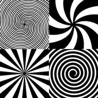 Spirale hypnotique psychédélique, tournoiement, vortex.