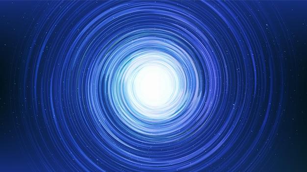 Spirale de lumière bleue