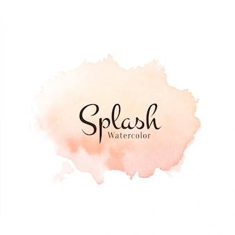 Splash aquarelle abstraite