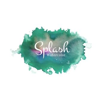 Splash aquarelle abstraite.