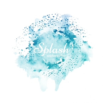 Splash aquarelle bleu élégant