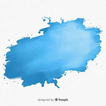 Splash aquarelle bleu